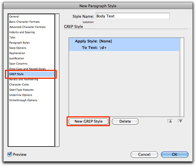 how to create a paragraph style in indesign