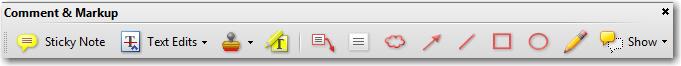 Adobe Acrobat/Adobe Reader: Comment & Markup toolbar