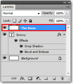 Adobe Photoshop: Add a new layer over the Type layer.
