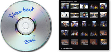 Which one do you like better? Scrawling text on a CD or slipping a contact sheet into the CD/DVD case?