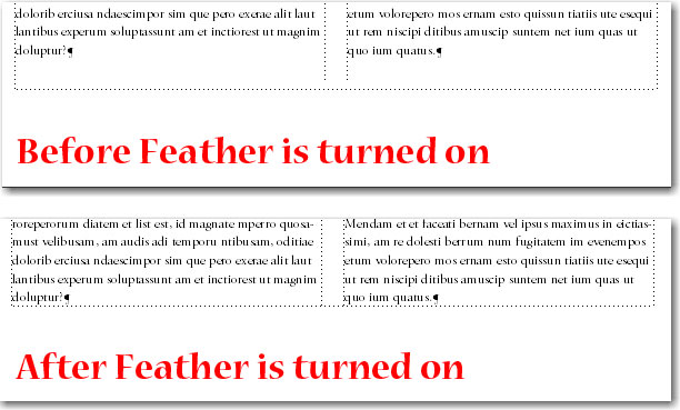 Adobe FrameMaker: Feather examples