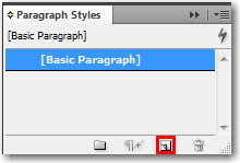 Adobe InDesign: Paragraph Styles panel