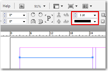 Adobe InDesign: Stroke Options in the Control Panel