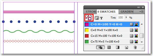 Adobe InDesign: Assigning Stroke Color