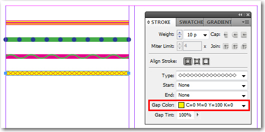Adobe InDesign: Setting the Gap Color
