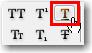 Adobe InDesign: Underline button