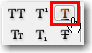 Adobe InDesign: Underline button