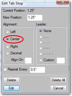 Adobe FrameMaker: Change the alignment to center