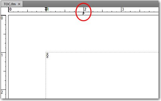 Adobe FrameMaker: Right align tab