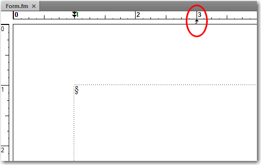 Adobe FrameMaker: Set a right-align tab under the 3 inch mark