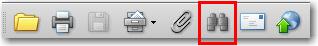 Adobe Acrobat: Search button