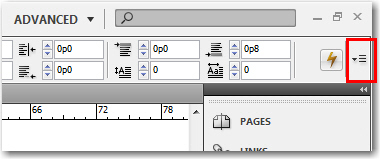 Adobe InDesign: The Control Panel Menu