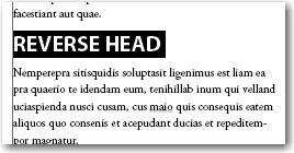 Adobe InDesign: Reverse Head