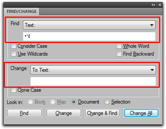 Adobe FrameMaker: Find/Change
