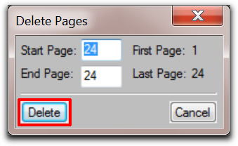 Adobe FrameMaker: Manually delete the page