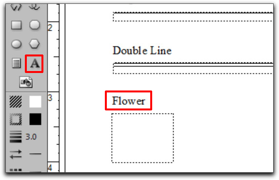 Adobe FrameMaker: Add a text label