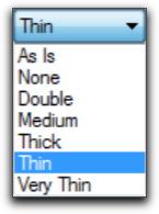Adobe FrameMaker: Ruling Styles List in the Table Designer