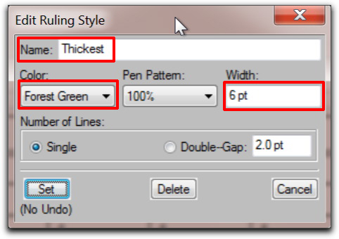 Adobe FrameMaker: Edit Ruling Style