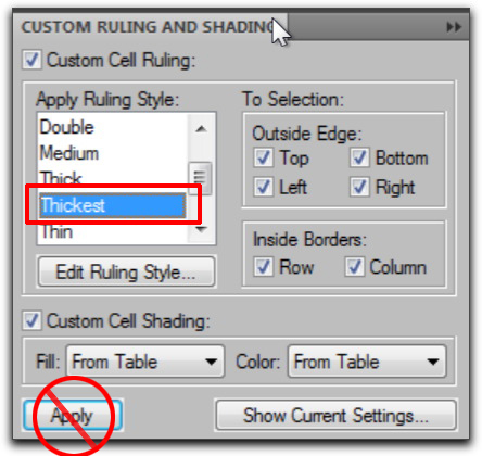 Adobe FrameMaker: Custom Ruling & Shading