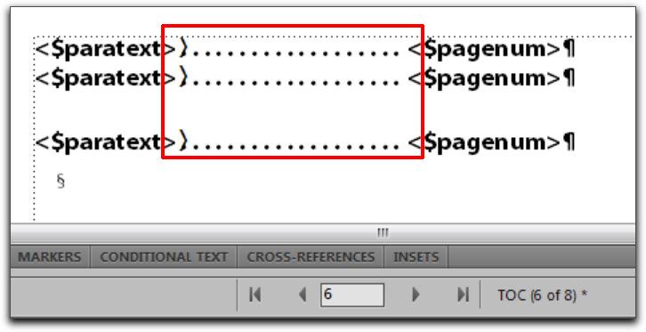 Adobe FrameMaker: TOC Reference Pages