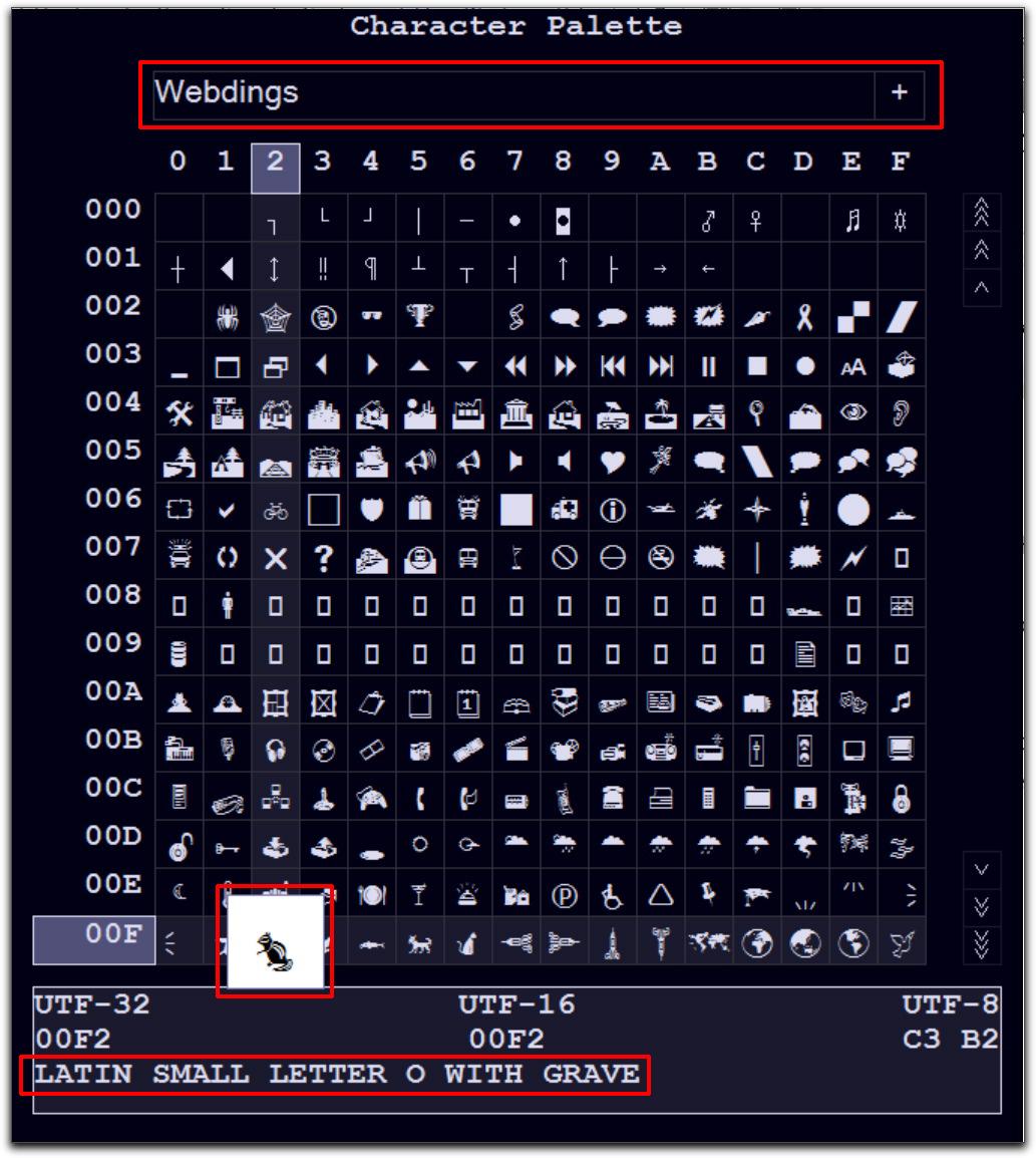 Adobe FrameMaker: Character Palette