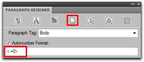 Adobe FrameMaker: Restarting Numbered Lists Automatically