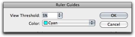 Adobe InDesign: Ruler Guide Colors