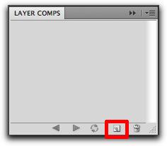 Adobe Photoshop: Save a Layer Comp button