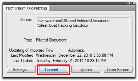 Adobe FrameMaker: Convert to editable text