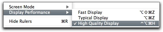 Adobe InDesign: View > Display Performance > High Quality Display