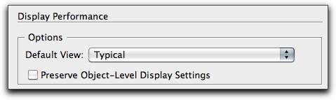 Adobe InDesign: Display Performance options in Preferences