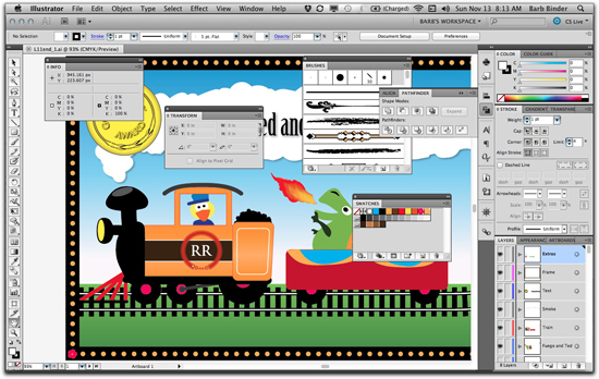 Adobe Illustrator CS5: Clean up this mess by restoring your favorite workspace
