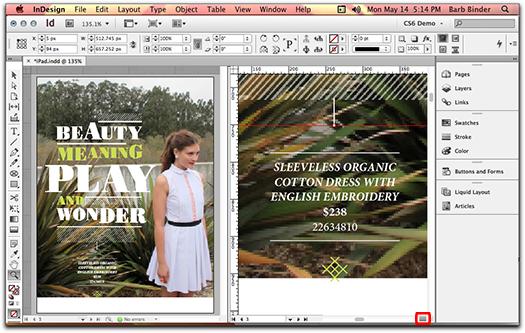 Adobe InDesign: Split window turned off