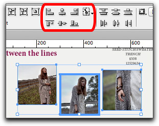 Adobe InDesign CS6: Align to Key Objects