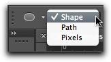 Adobe Photoshop CS6: The revised vector options bar
