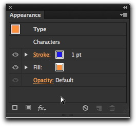 Adobe Illustrator CS6: Order matters in the Appearance panel. Drag the rows up or down for the desired effect.