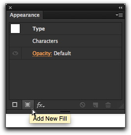 Adobe Illustrator CS6: Click the Add New Fill button in the bottom row of the Appearance panel