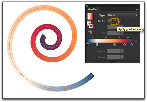 Adobe Illustrator CS6: Gradient along stroke