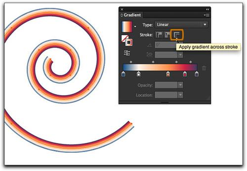 Adobe Illustrator CS6: Gradient across stroke