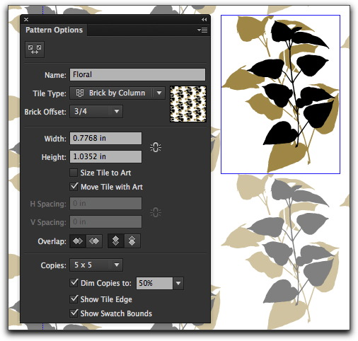 Adobe Illustrator CS6: The new intuitive Pattern Maker panel