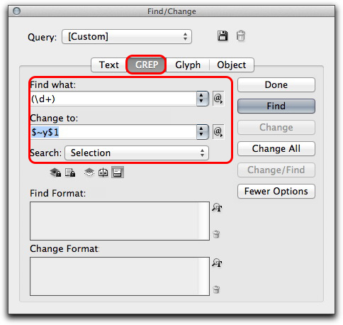 Adobe InDesign: Use a GREP pattern to add the $ and right indent tab