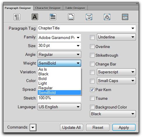 Adobe FrameMaker: So You Want to Use Myriad Pro SemiBold? – Rocky