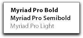 Adobe FrameMaker 11: Myriad Pro SemiBold lives with Myriad Pro Light