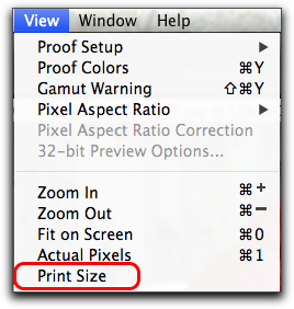 Adobe Photoshop CS6: The Print Size Command
