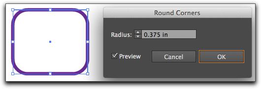 Adobe Illustrator CS6: Round Corners