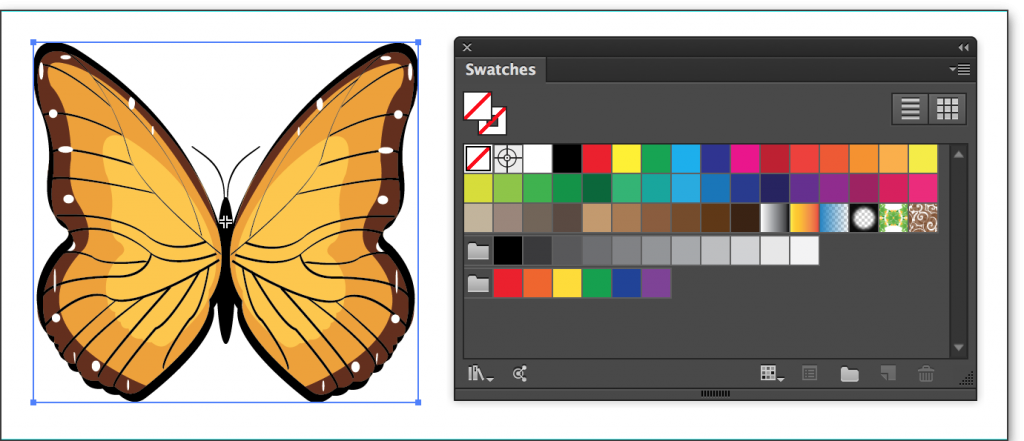 Adobe Illustrator CC 2014: Select the artwork containing the CMYK colors.