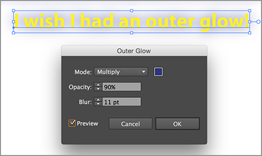 Adobe Illustrator CC 2014: My Outer Glow isn't Working